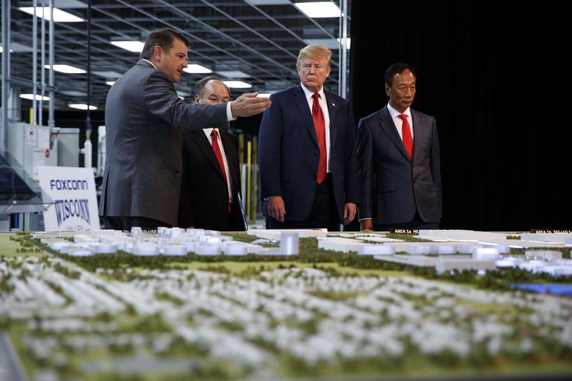 President Donald Trump and Foxconn chairman Terry Gou