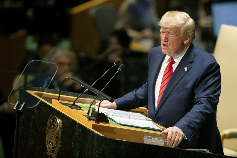 U.S. President Donald Trump addresses the 74th session of the United Nations General Assembly at U.N. headquarters.