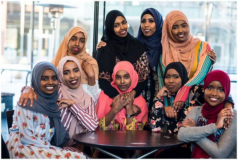 Somali women from the United ReSisters of Green bay