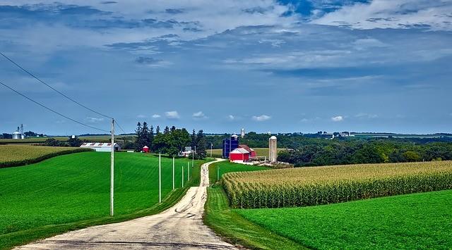 Wisconsin family farm landscape