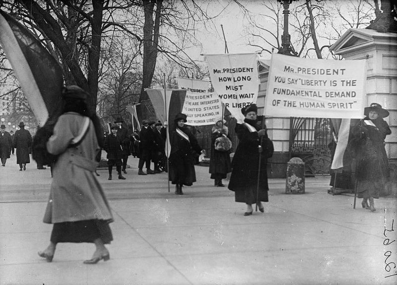 women's suffrage protest history