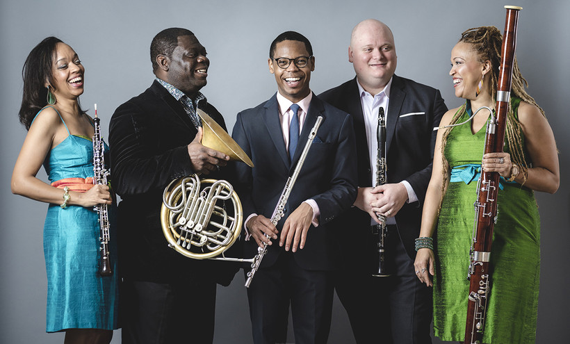 Photo of Imani Winds ensemble