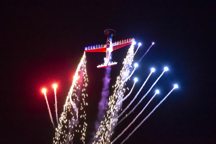 Nathan Hammond creates a night air show fireworks display