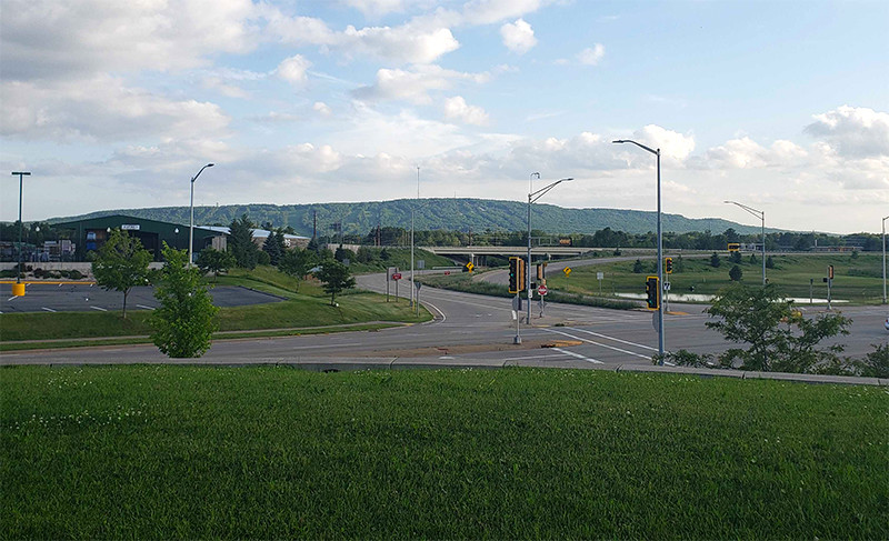 Rib Mountain viewed from the north on Stewart Avenue in Wausau