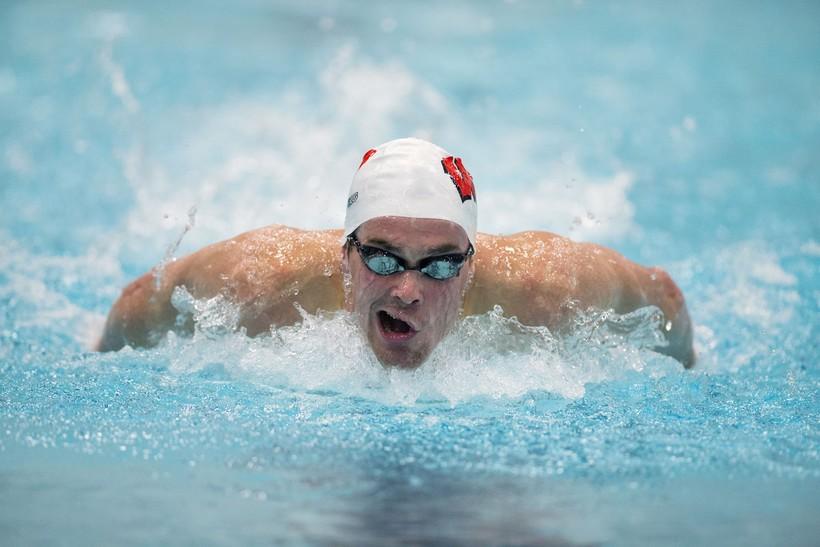 UW-Madison swimmer and Olympic competitor Matt Hutchins