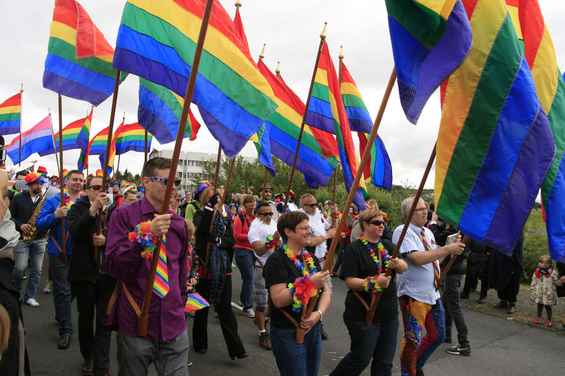 A gay pride parade
