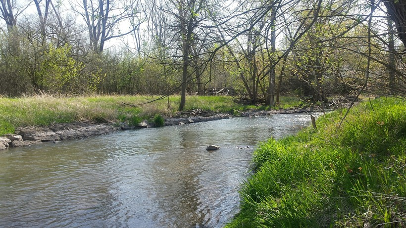 The Root River flows through Lincoln Park, in Racine.