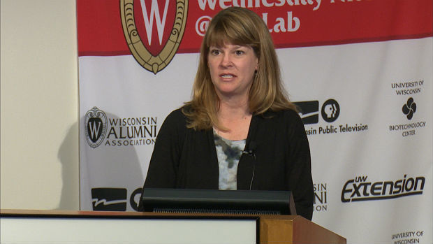 Wisconsin Department of Agriculture, Trade and Consumer Protection assistant state veterinarian Darlene Konkel discusses avian influenza on July 22, 2015.