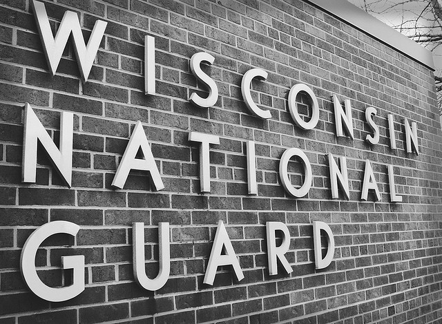 Wisconsin National Guard sign