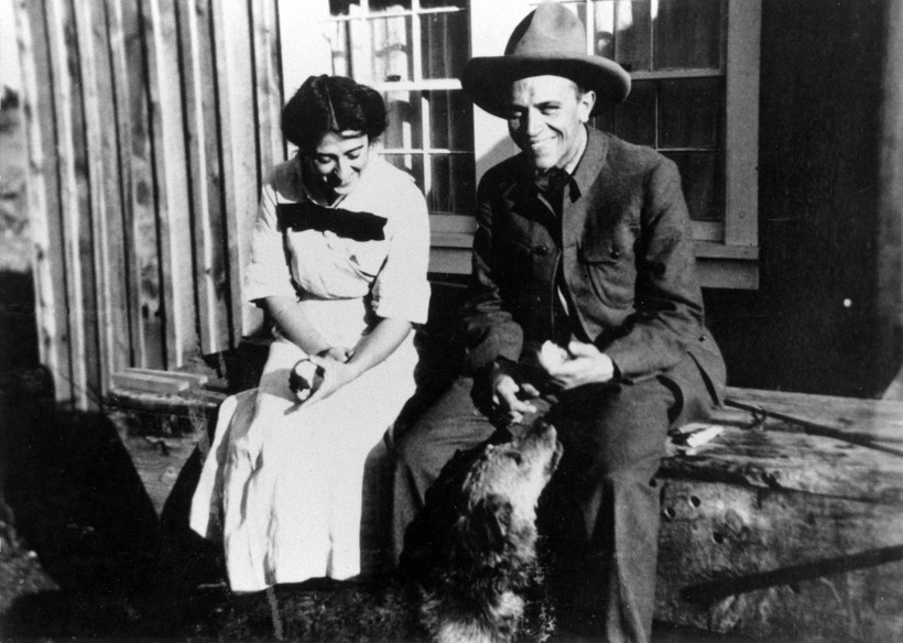 Aldo Leopold with wife Estella Bergere