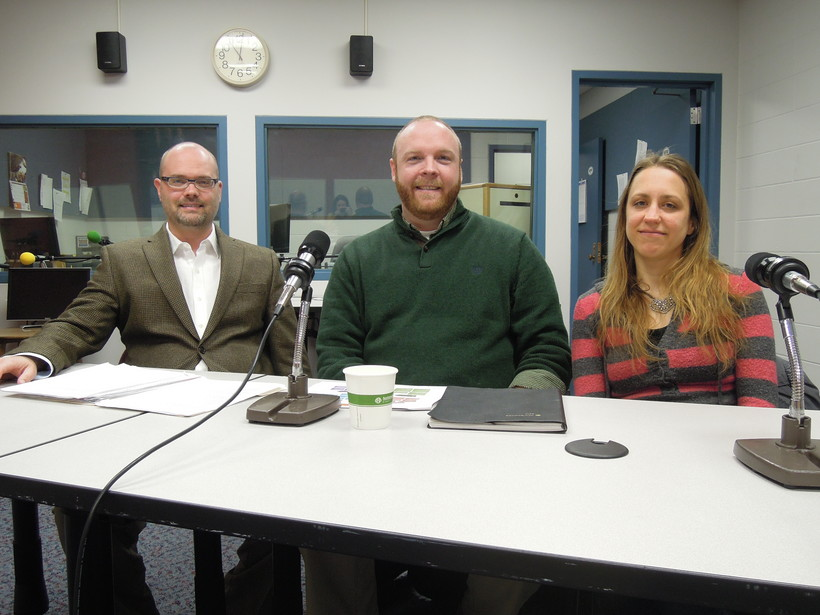 Dr. Chris Eberlein, Keith Lease and Emily Lodoen