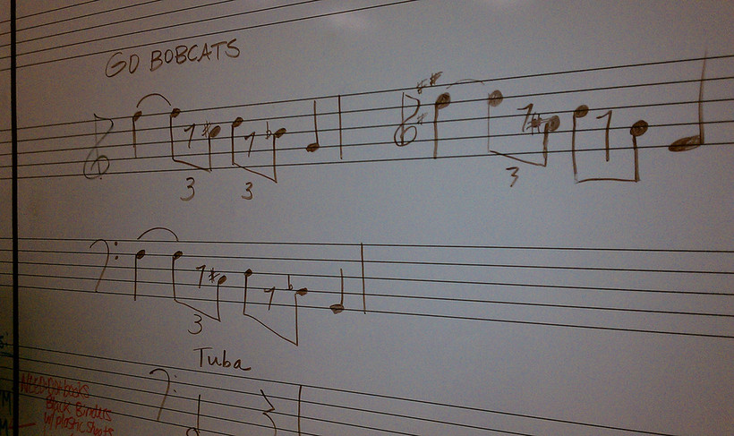 Music on the white board