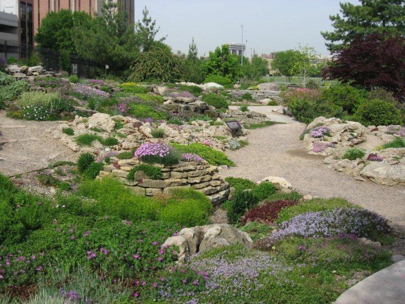 The Rock Garden at Allen Centennial Gardens, photo by Ed Glover