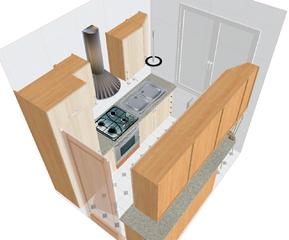kitchen design, image by Wikimedia Commons user Elektron