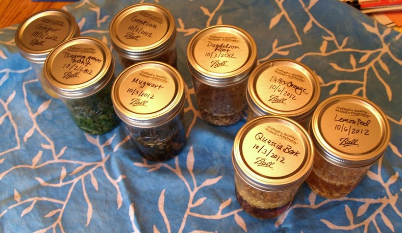 bitters infusions, photo by Alyssa Tsagong
