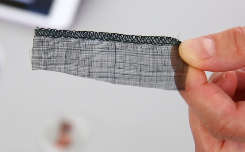 Solar textile sample.