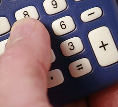 calculator, photo by Flickr user Alan Cleaver