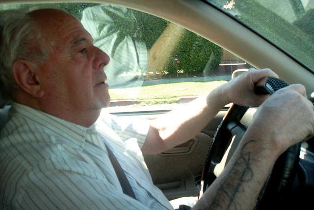 Grandpa driving