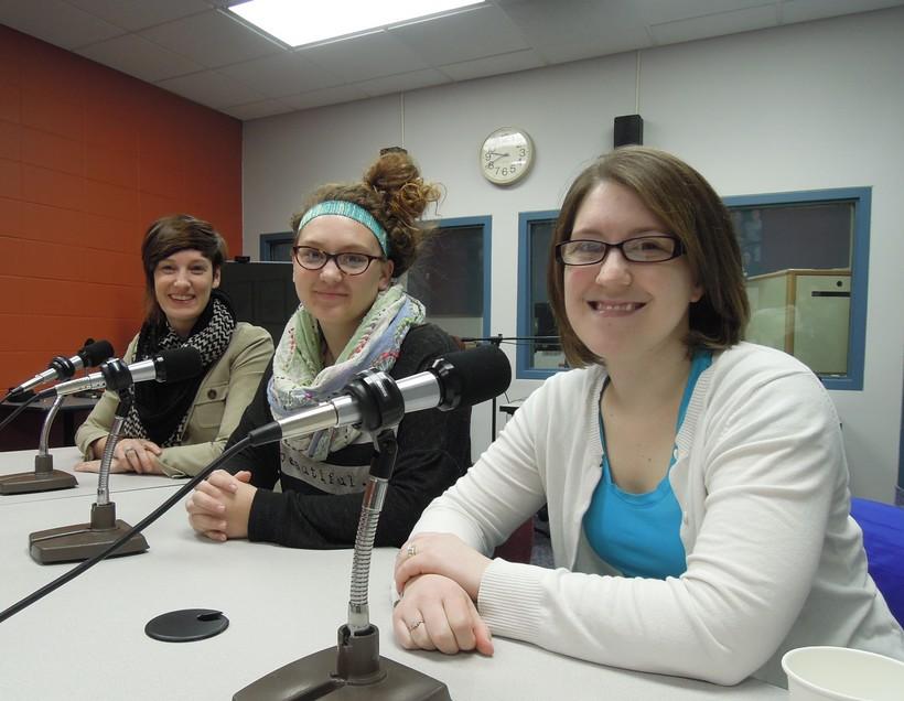 (left-right) Ariel Beaujot, Ariel Reker and Emily Lovell
