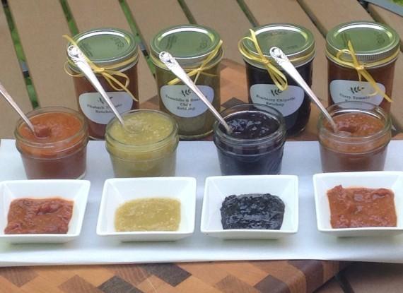 ketchups, courtesy of Chef Terri Milligan
