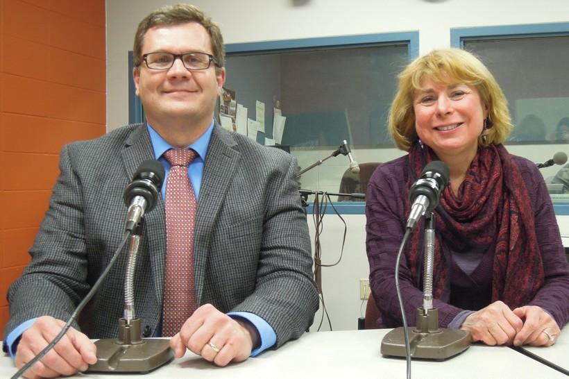 La Crosse Mayor Tim Kabat and La Crosse County Supervisor Maureen Freedland