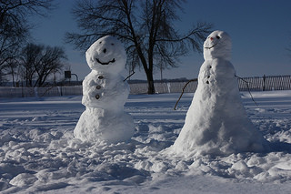 snow people, image by Michael Leland