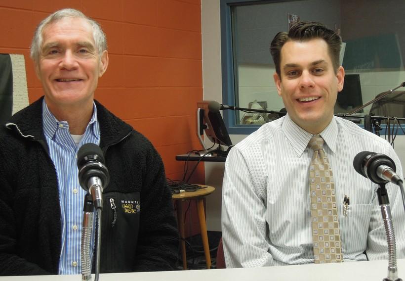 Dr. Jeff Thompson and Mason Quackenbush