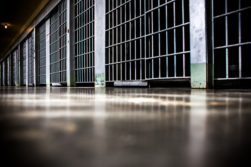 Prison hallway floor