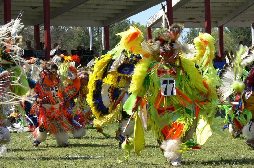 Dancers Wearing Dance Regalia