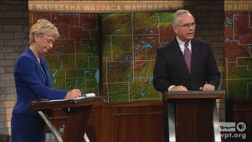 Justice Ann Walsh Bradley and Rock County Judge James Daley debate
