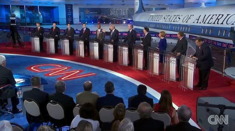 Stage of main GOP presidential debate