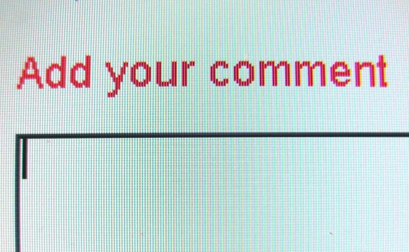 Online comment box