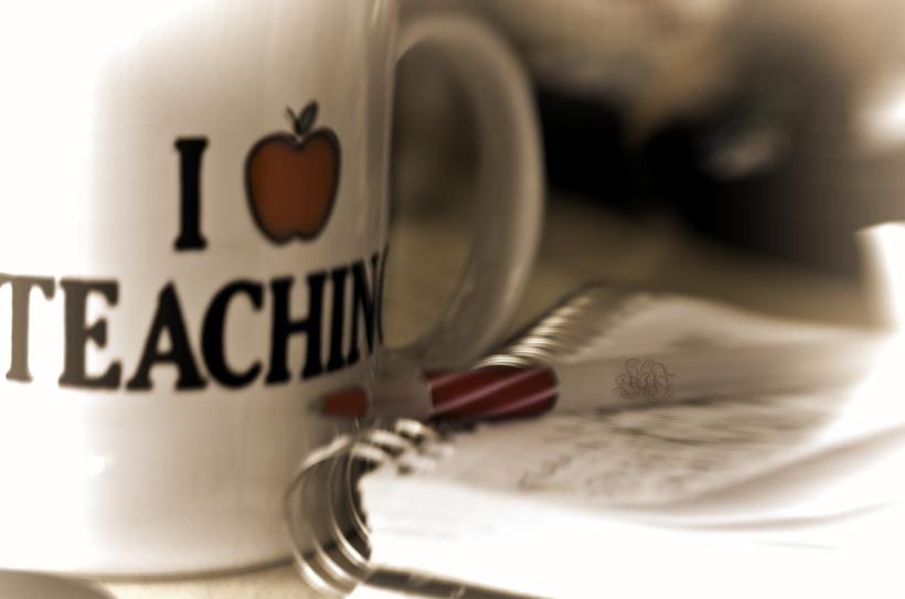 """""""I Love Teaching"""" mug"""