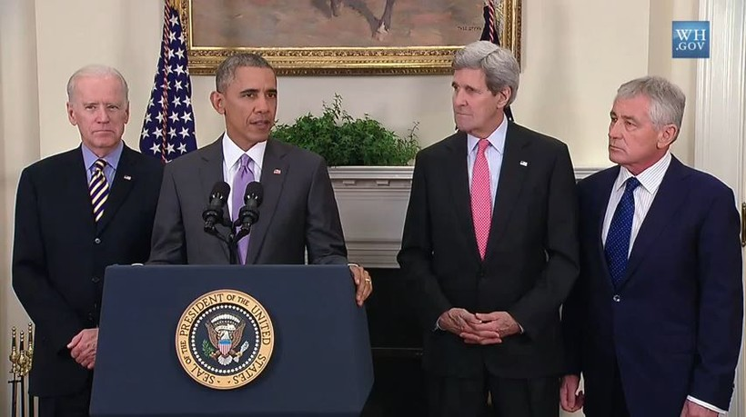 President Barack Obama seeks authorization for the use of military force against the Islamic State on Feb. 11, 2015.