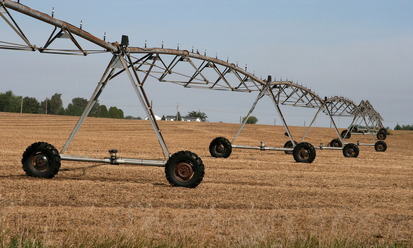 rotary irrigation outside Beloit