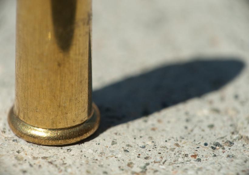 .22-caliber bullet, hollow point