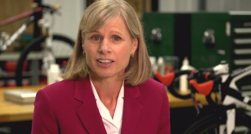 Mary Burke in a still from her campaign announcement video