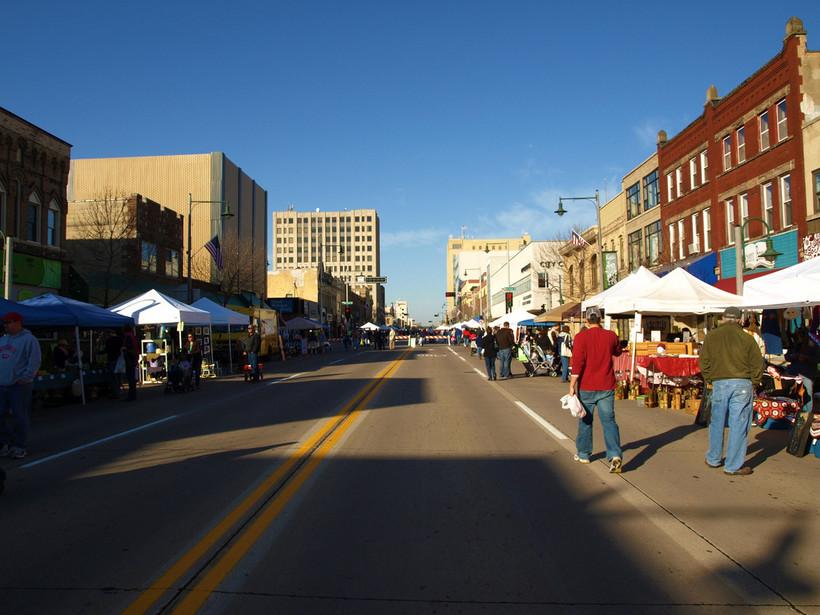 Farmers market in Appleton, WI