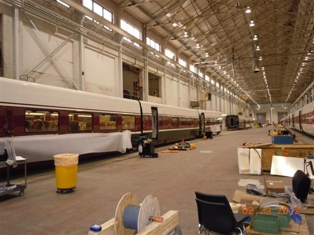 Talgo trains destined for Oregon being worked on in a Wisconsin facility