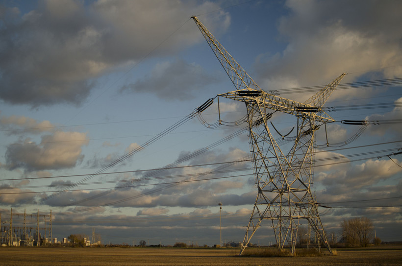 Power transmission lines in Kankakee, Illinois