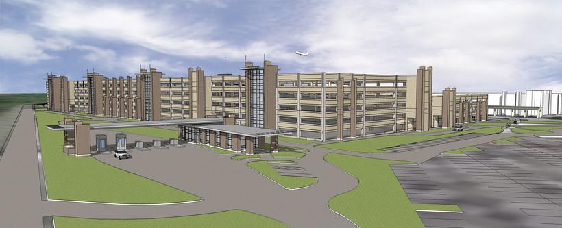Dane County Regional Airport rendering of new parking garage