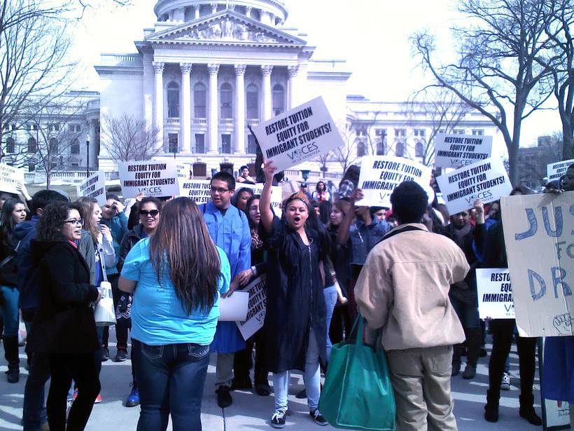 Students rally at the Capitol for in-state tuition for undocumented immigrants