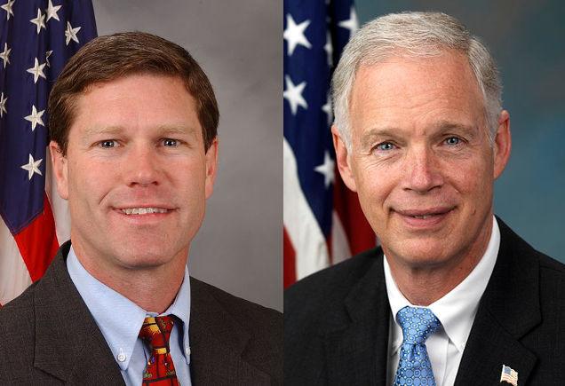 Wisconsin's U.S. Rep. Ron Kind (D) and U.S. Sen. Ron Johnson (R)