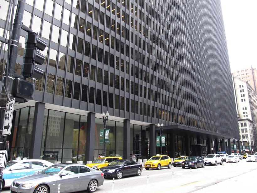 Dirksen Federal Court building, in Chicago