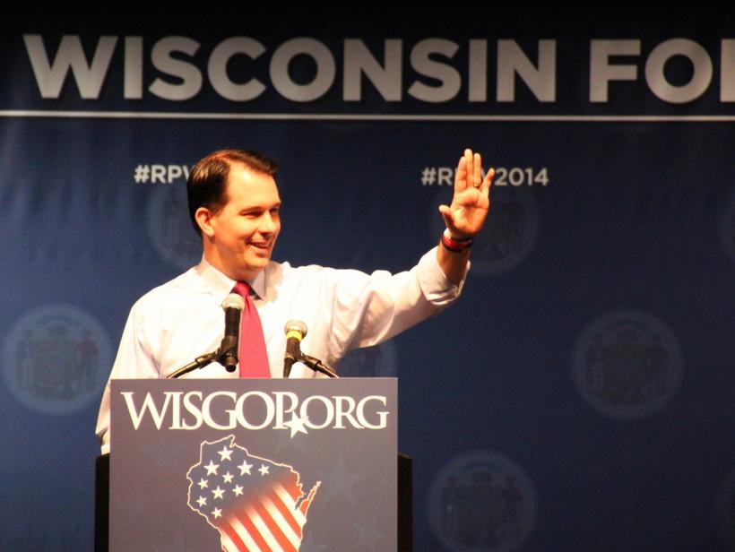 Gov. Scott Walker addresses the 2014 Wisconsin GOP convention