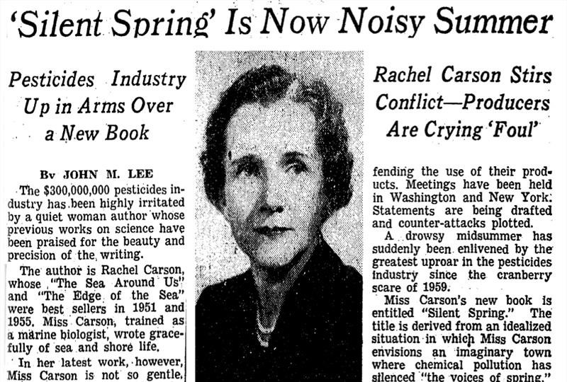 """an analysis of the topic of the pesticides in the silence of the birds by rachel carson """"environmental effects of pesticides on public health, birds, and other organisms"""" david pimentel note from jeff: this excellent article is from a small publication sent to us by the fish and wildlife service in the usa which was created in honour of rachel carson, who used to work for them."""