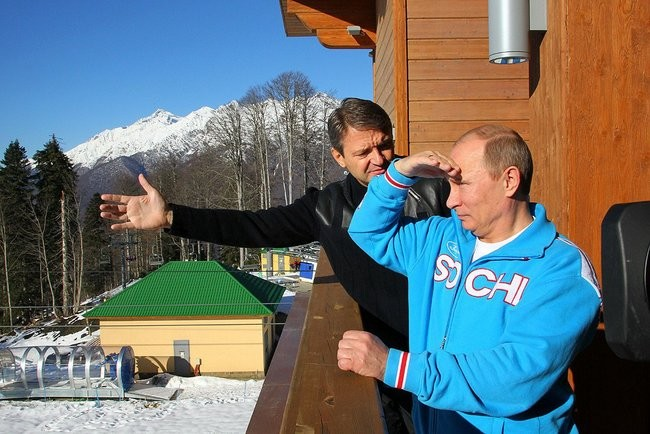 Putin inspecting Sochi, image courtesy of the press service of the president of Russia