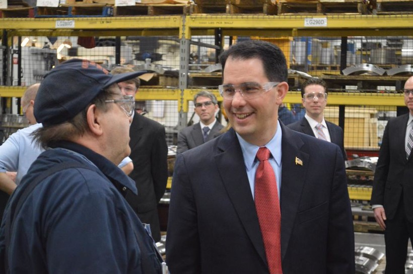 Gov. Walker touring John Crane Orion in Grafton