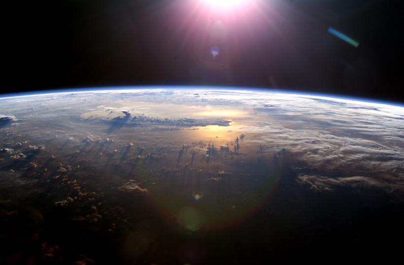 Earth with sun
