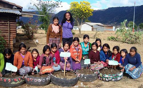 Peace Corps tire garden in Guatemala